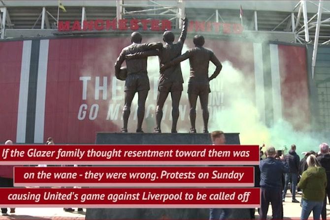 Man Utd v Liverpool match postponed after Old Trafford fan protest
