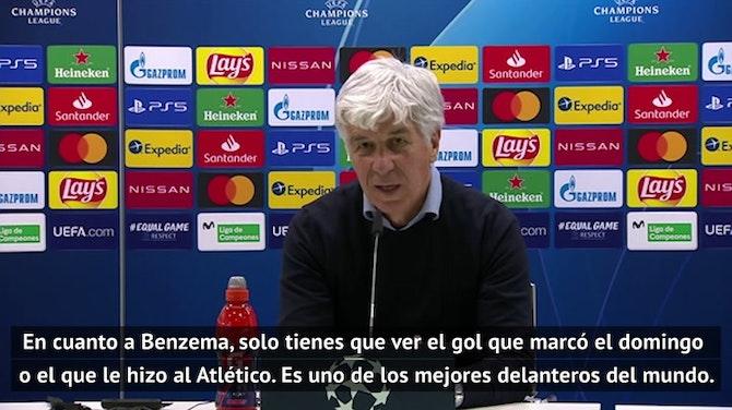 "Gasperini: ""Benzema hace al Real Madrid incluso mejor"""
