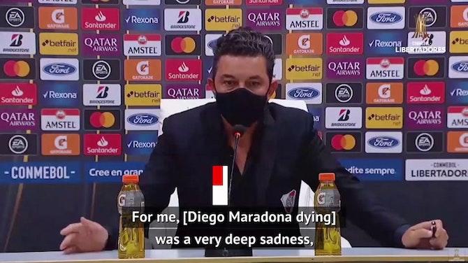 Preview image for Maradona 'filled my pillows with dreams' - River coach Gallardo