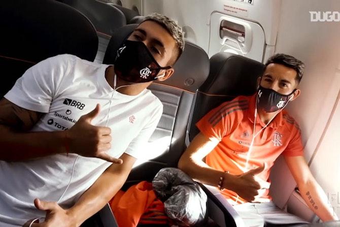 Flamengo está pronto para encarar o Unión La Calera; veja treino no Chile