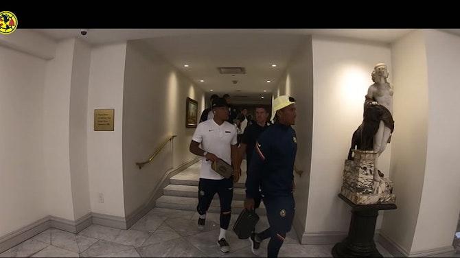 Preview image for Behind the scenes of Club América victory vs Tigres in San Antonio