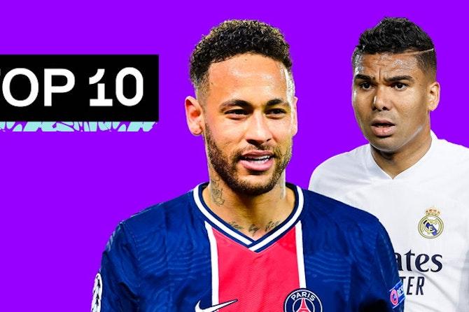 Top 10 Melhores BRASILEIROS na EUROPA! Temporada 20/21