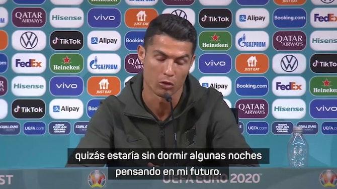 "Ronaldo, sobre su futuro: ""Lo que venga será para bien"""