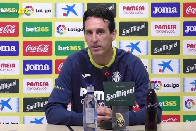 "Emery: ""El Sevilla es una espejo bonito para el Villarreal"""