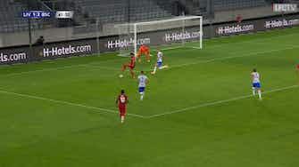 Preview image for Salah's incredible backheel for Minamino vs Hertha