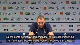 "Imagen de vista previa para Benzema: ""Con Mbappé jugamos a un toque"""