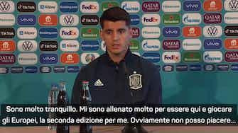 """Anteprima immagine per Morata: """"Sono tranquillo, bisogna accettare le critiche"""""""