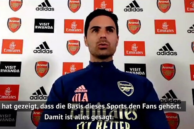 "Arteta: ""Fans haben die Super League gekillt"""