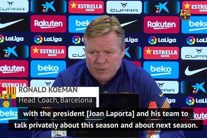 Koeman urges Barcelona to stay focused on task at hand