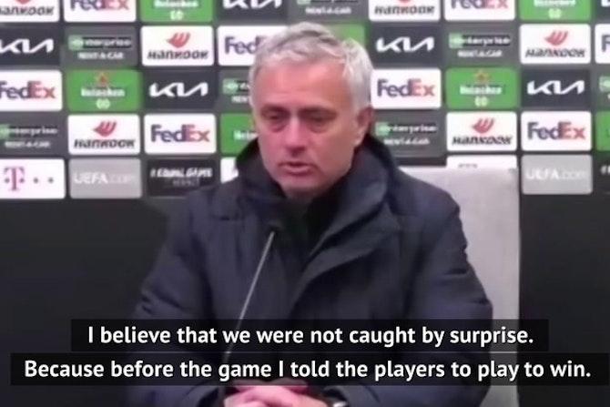 Mourinho questions Spurs attitude after Europa exit