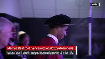 Anteprima immagine per Marcus Rashford, dottorato honoris causa e Ferguson applaude