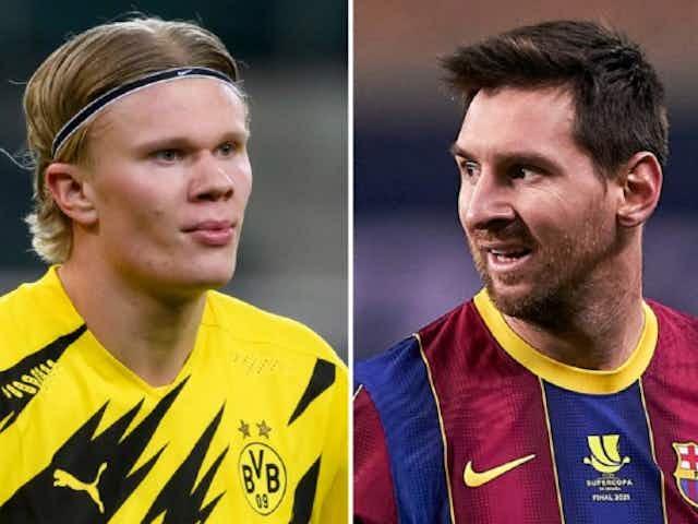 Erling Haaland just started following Barcelona superstar Lionel Messi
