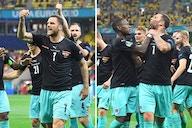 (Video) Austria star Marko Arnautovic celebrates goal vs North Macedonia with bizarre episode of pure rage