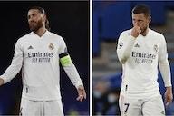 Zinedine Zidane with a decision to make on Sergio Ramos and Eden Hazard before Sevilla on Sunday