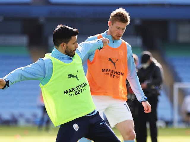De Bruyne and Aguero return to Man City training ahead of EFL Cup final