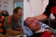 Rogério Ceni emociona torcedor acamado por esclerose na Fla TV; assista