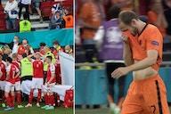 Christian Eriksen: Daley Blind leaves the pitch in tears during Netherlands vs Ukraine