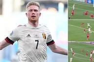 Euro 2020: Kevin De Bruyne's highlights from Denmark masterclass are sensational