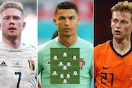 Ronaldo, Lukaku, De Bruyne: The highest-rated XI at Euro 2020