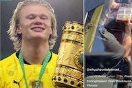 Erling Haaland: Borussia Dortmund star spotted wearing Leeds United shorts