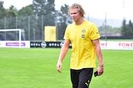 Borussia Dortmund striker Erling Haaland spotted in Leeds United kit