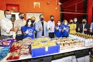 Valencia CF represented at latest Banco de Alimentos food distribution day