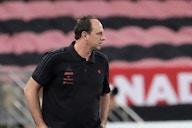 Rogério Ceni reacts after Bragantino snap Flamengo's unbeaten streak