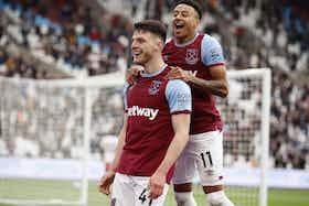 Article image: https://image-service.onefootball.com/crop/face?h=810&image=https%3A%2F%2Fwww.footballfancast.com%2Fwp-content%2Fuploads%2F2021%2F05%2Fwest-ham-midfielder-declan-rice-celebrates-scoring-third-goal-against-southampton-premier-league-e1621790226640.jpg&q=25&w=1080
