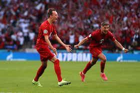 Article image: https://image-service.onefootball.com/crop/face?h=810&image=https%3A%2F%2Fwww.footballfancast.com%2Fwp-content%2Fuploads%2F2021%2F07%2FMikkel-Damsgaard-celebrates.jpg&q=25&w=1080