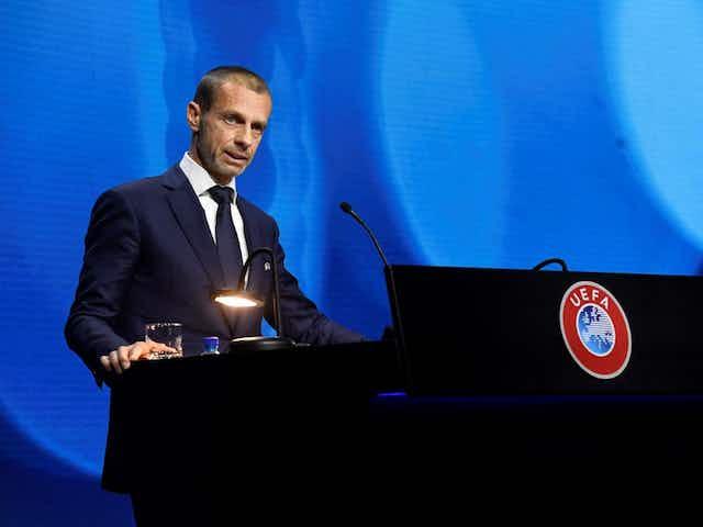 Super League: Aleksander Ceferin (UEFA) remercie Jean-Michel Aulas (OL)