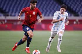 Imagen del artículo: https://image-service.onefootball.com/crop/face?h=810&image=https%3A%2F%2Fwww.prensafutbol.cl%2Fwp-content%2Fuploads%2F2021%2F07%2FEspana_Argentina_JJOO_Tokio_2020_julio_2021.jpg&q=25&w=1080