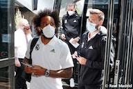 Así fue la llegada del Real Madrid a Glasgow