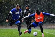 Samp finetune Spezia preparations in rainy Bogliasco